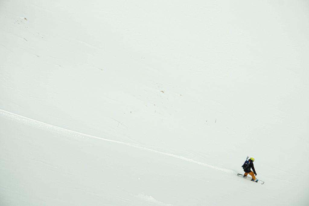 Ciucas Mountains snow powder rider