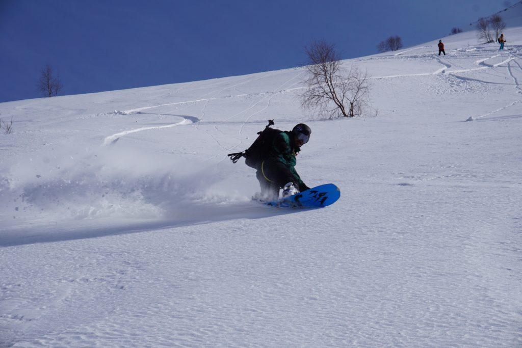 Splitboard tree lines Georgia Gudauri ski resort