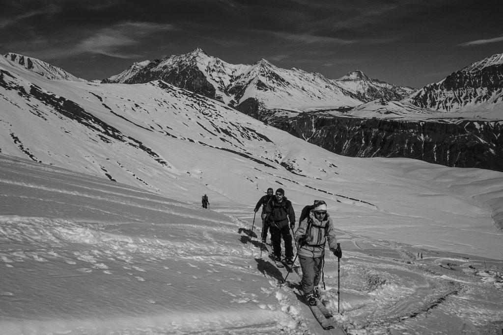 Georgia Tour backcountry ski splitboarding riders team winter mountains