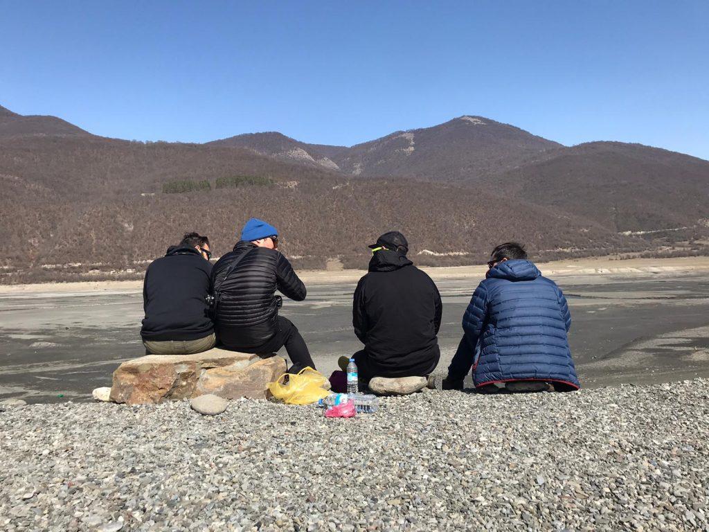 Gudauri Tour experience dry land friends beer Georgia lake reservoir Ananuri