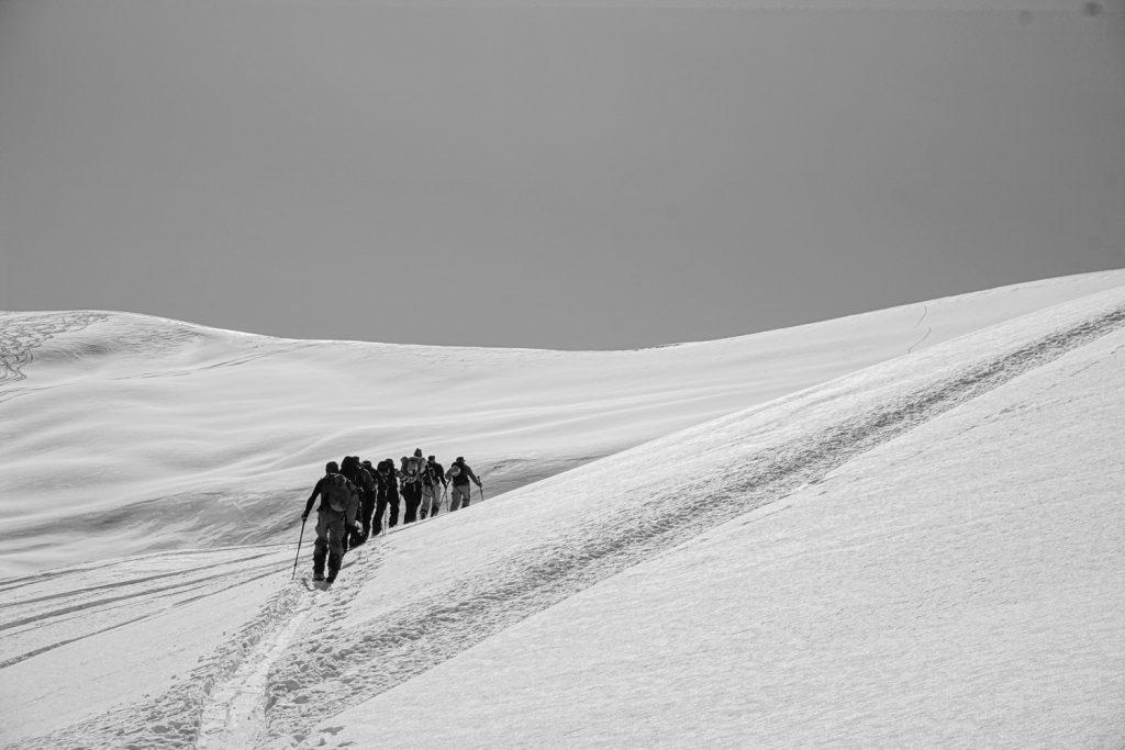 Georgia winter tour backpacking mountains Gudauri Kazbegi splitboarding ski snowboarding