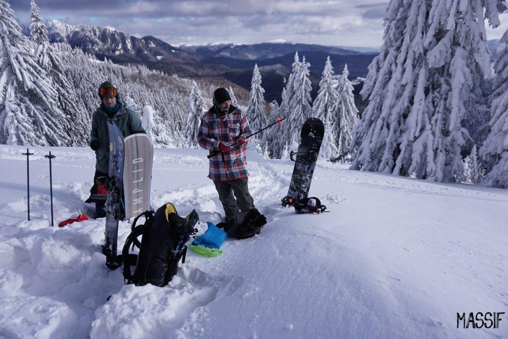 splitboarding in muntii ciucas